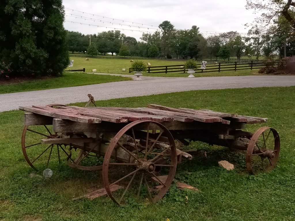 Baltimore County: old wagon and Inverness Brewing